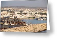 Port Of Agadir Morocco Greeting Card