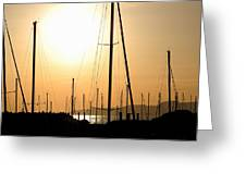 Port Of Call - The Great Salt Lake Greeting Card