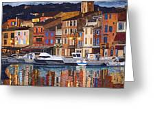 Port Of Cassis Greeting Card by Lenore Crawford