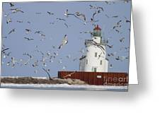 Port Of Cleveland Greeting Card