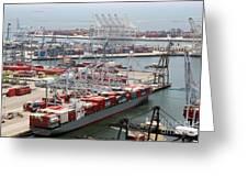 Port Of Long Beach Greeting Card