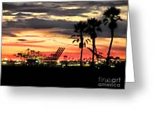 Port Of Long Beach Greeting Card