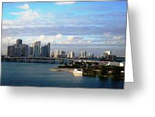 Port Of Miami 3 Greeting Card