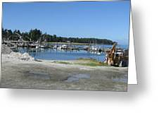 Port Of Oysterville/nahcotta  Greeting Card