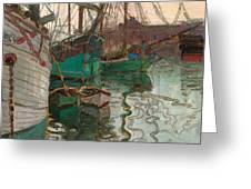 Port Of Trieste Greeting Card by Egon Schiele