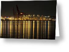 Port Of Vancouver Bc Canada Greeting Card