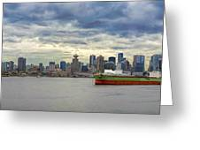 Port Of Vancouver Bc Panorama Greeting Card