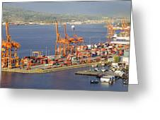 Port Of Vancouver Panorama Greeting Card