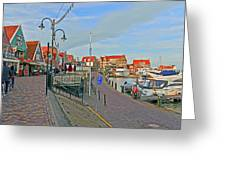Port Of Volendam Greeting Card