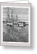 Reflections Of Port Orchard Washington Greeting Card