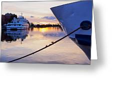 Port Sunrise Greeting Card