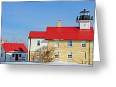 Port Washington Light Station  Greeting Card