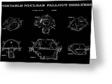 Portable Nuclear Fallout Shelters 2 Patent Art 1986 Greeting Card