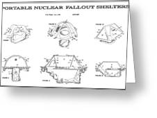 Portable Nuclear Fallout Shelters 4 Patent Art 1986 Greeting Card
