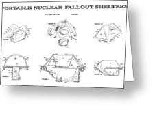 Portable Nuclear Fallout Shelters3  Patent Art 1986 Greeting Card