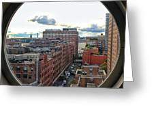 Portal To The City  Greeting Card
