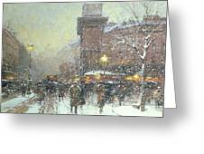 Porte St Martin In Paris Greeting Card