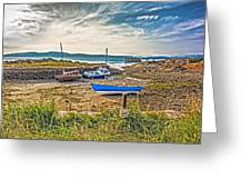 Portencross Harbour At Low Tide Greeting Card