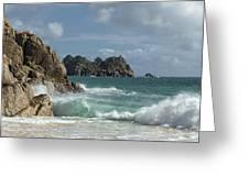 Porthcurno Beach Greeting Card