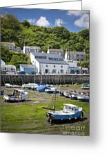 Porthleven Harbor - Low Tide Greeting Card