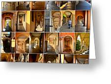 Porticos Of Padua Combined Greeting Card