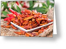Portion Of Dried Chillies Greeting Card