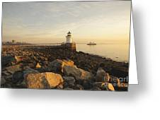 Portland Breakwater Light - Portland Maine Greeting Card