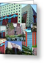 Portland Building Collage Greeting Card