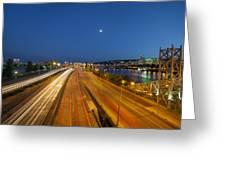Portland City Blue Hour Greeting Card