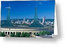 Portland Convention Center, Morning Greeting Card