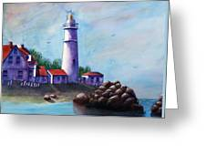 Portland Head In Shade Greeting Card