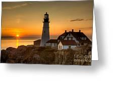 Portland Head Light At Sunrise II Greeting Card