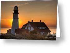 Portland Head Light At Sunrise IIi Greeting Card