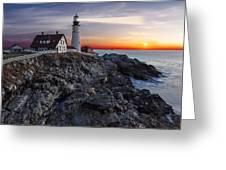 Portland Head Light Awakes Greeting Card