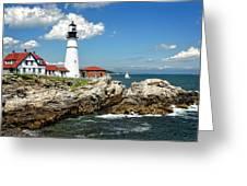 Portland Head Light In Maine Greeting Card