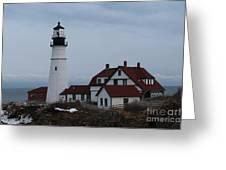 Portland Head Lighthouse 8529 Greeting Card
