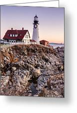 Portland Head Lighthouse Cape Elizabeth Maine Greeting Card