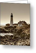 Portland Head Lighthouse Greeting Card by Joann Vitali