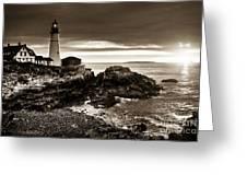 Portland Head Lighthouse Sunrise Greeting Card
