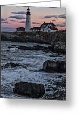 Portland Head Lighthouse Sunset Greeting Card