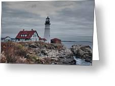 Portland Headlight 14456 Greeting Card