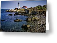 Portland Headlight 37 Oil Greeting Card