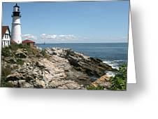 Portland Headlight Lighthouse 3 Greeting Card