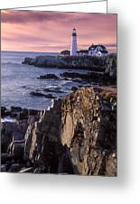 Portland Headlight Maine Greeting Card