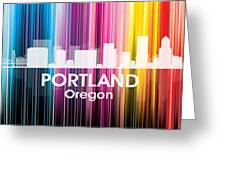 Portland Or 2 Greeting Card