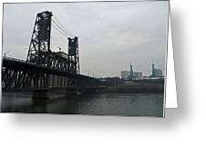 Portland Oregon Steel Bridge Greeting Card