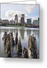 Portland Oregon Waterfront Greeting Card