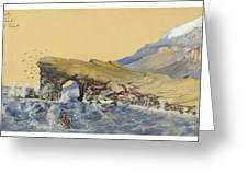 Portland Point Natural Bridge Circa 1862 Greeting Card by Aged Pixel