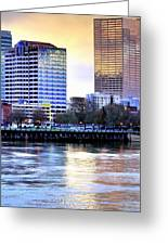Portland Reflections 22929 Hdr Greeting Card
