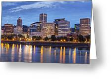 Portland Skyline Pm2 Greeting Card